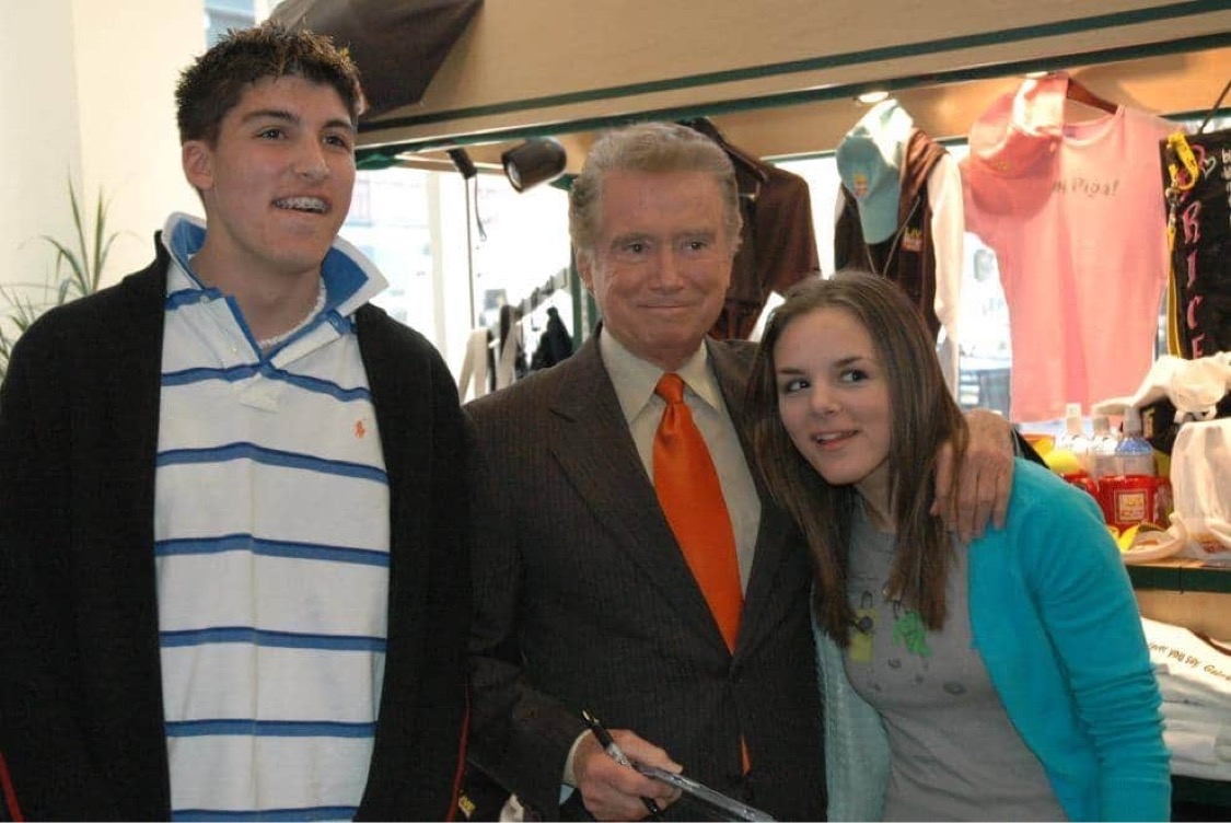 Regis Philbin, Chris Marine with Cousin Sam Slade
