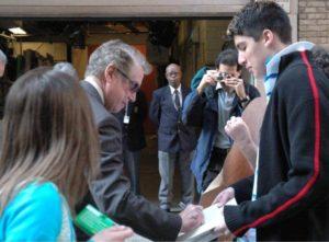 Chris Marine gets Regis Philbin's Autograph